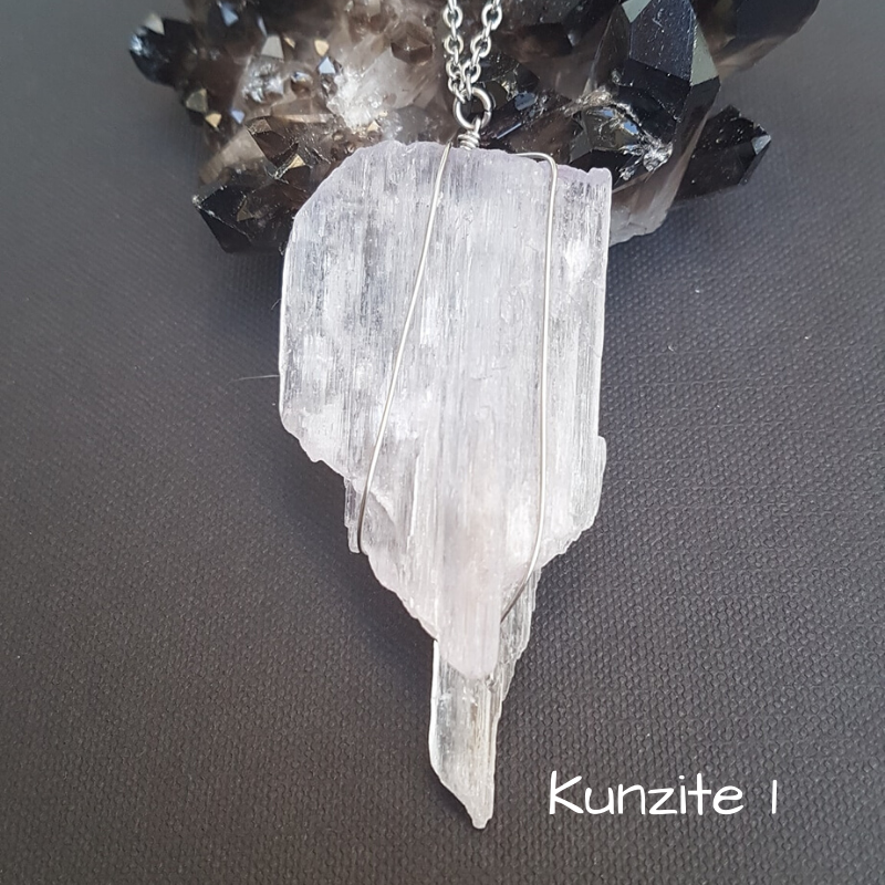 Image of Kunzite Wire-Wrapped Necklace