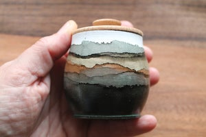 Image of Decorative Lidded Wooden Jar (4 choices!)