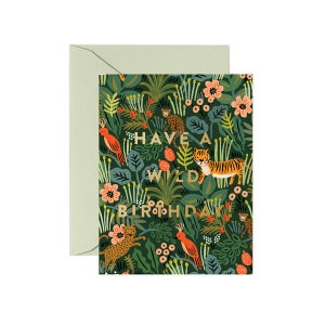 Image of CARTE DOUBLE HAPPY BIRTHDAY ANIMAUX (QUATRE MODÈLES), RIFLE PAPER CO.