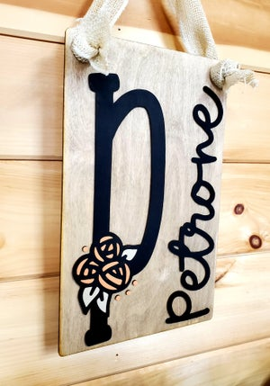 Image of Craft at Home Kit - Rose Initial Door Hanger