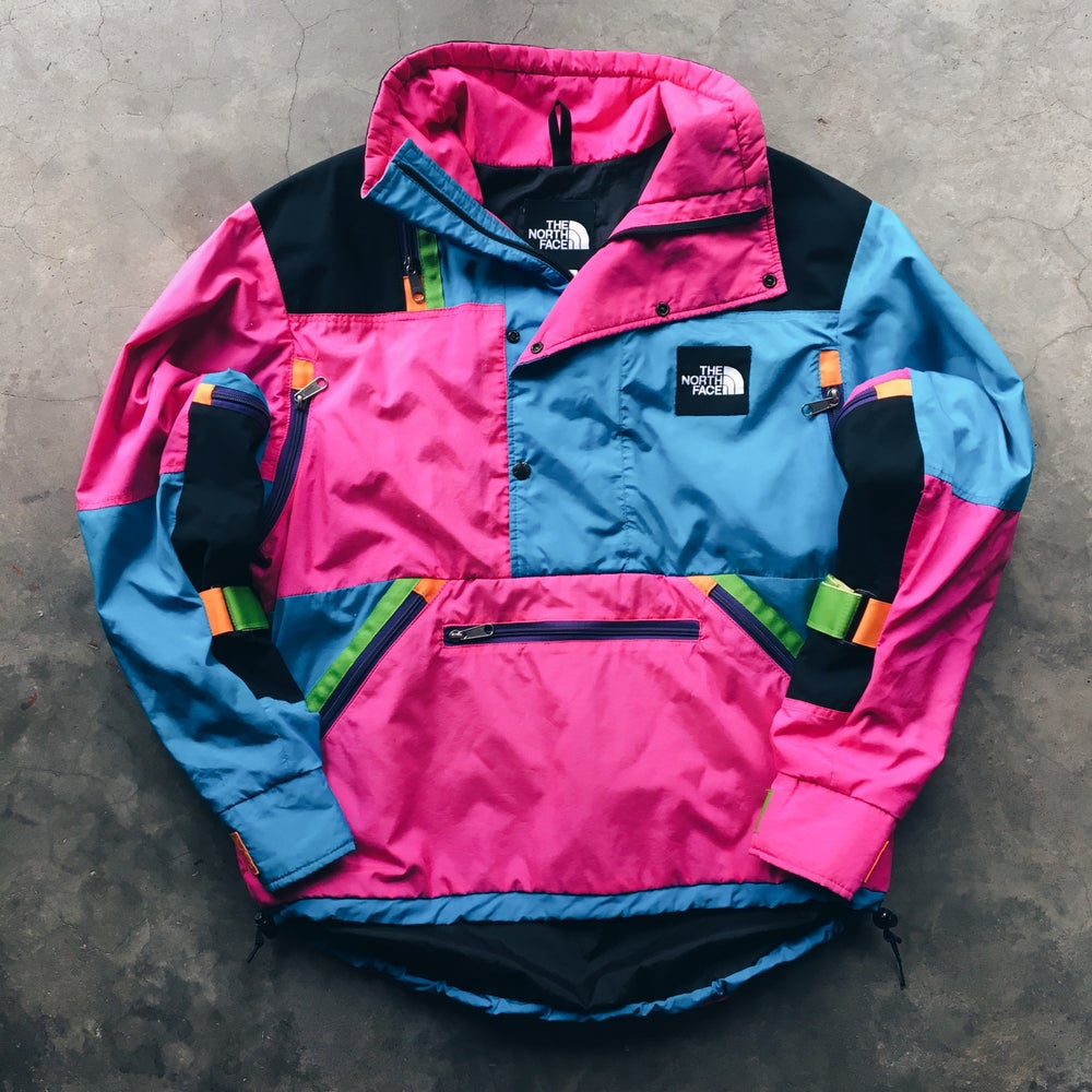 Image of Original Vintage The North Face Patchwork Pullover.