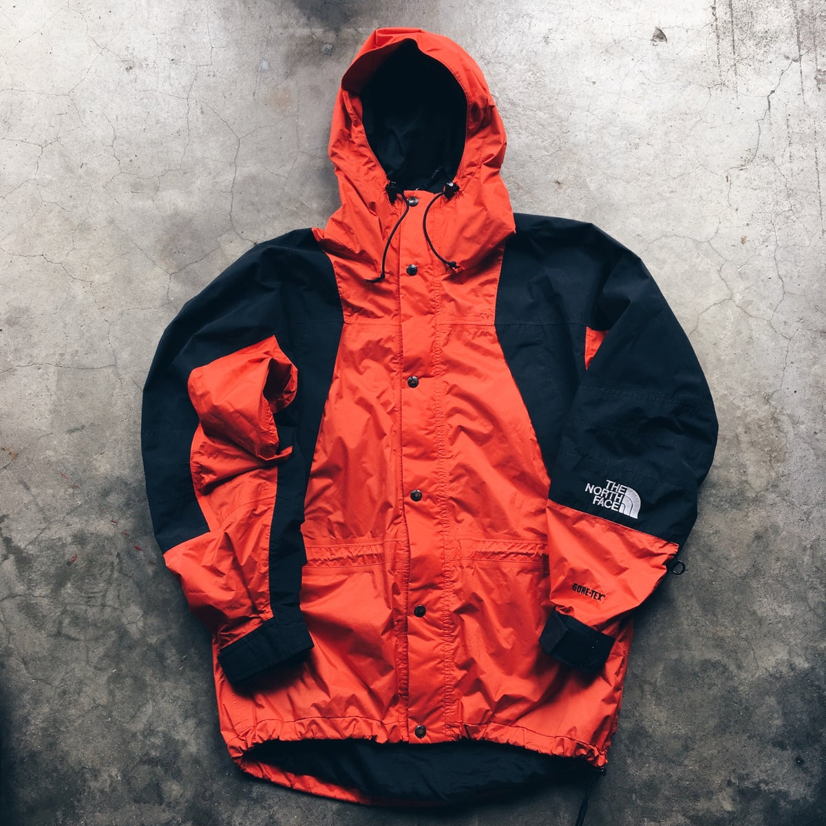 "Image of Original 90's The North Face Mountain Light Goretex ""Mango"" Jacket."