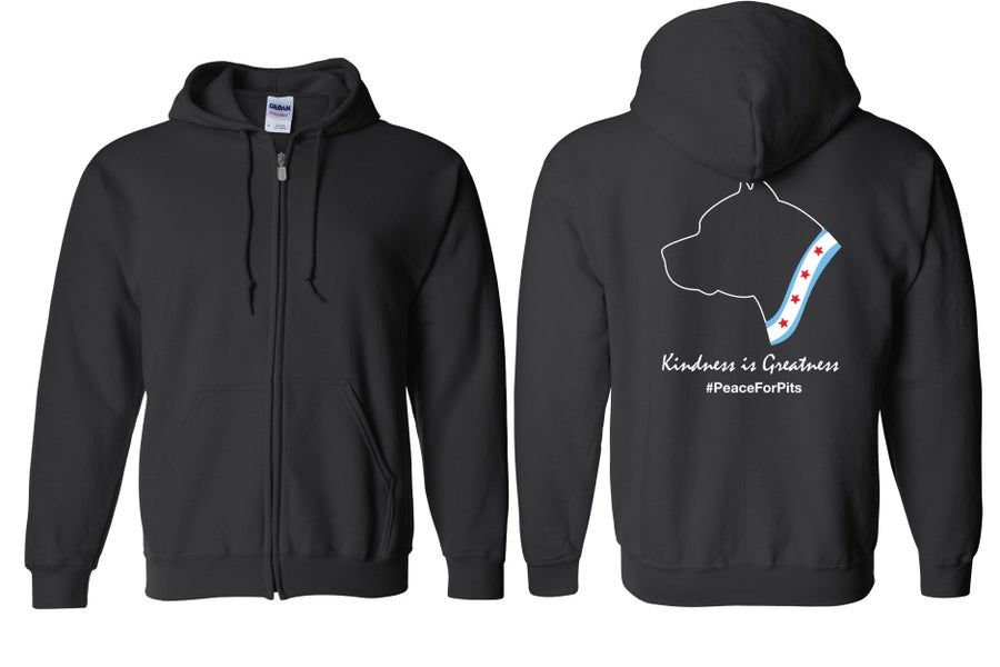 Image of Kindness is Greatness Zip Up Black