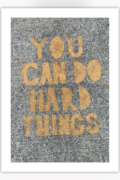 Image of You can do hard things Donation & Post card