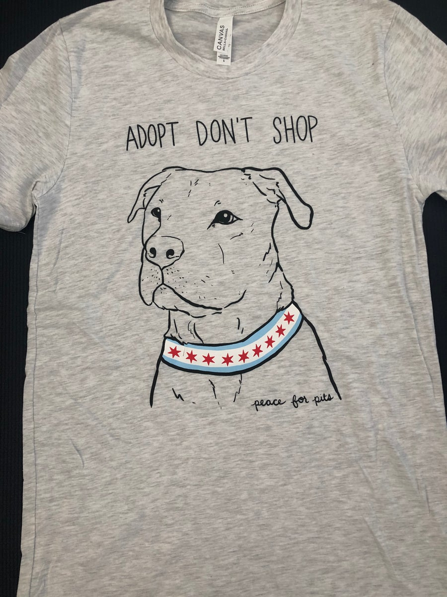 Image of Adopt Don't Shop T-shirt Heather Grey