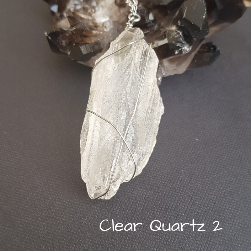 Image of Clear Quartz Wire-Wrapped Necklace