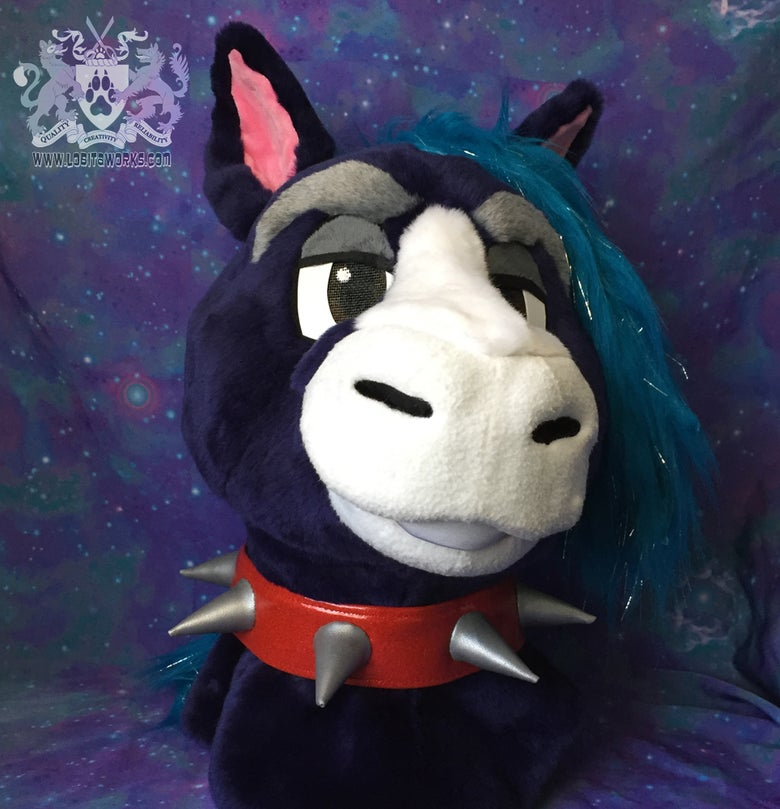 Image of Red Spike Fursuit Collar