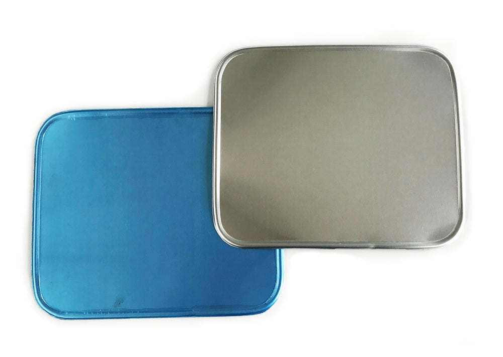 Image of Sideburn Alloy Rectangular Number Plates - Pair