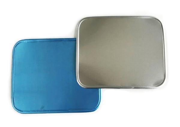 Image of Sideburn Alloy Rectangular Number Plates - Pair