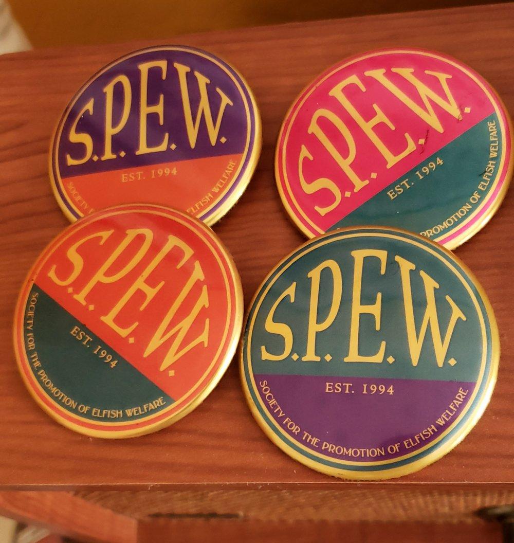 S. P. E. W. Badge