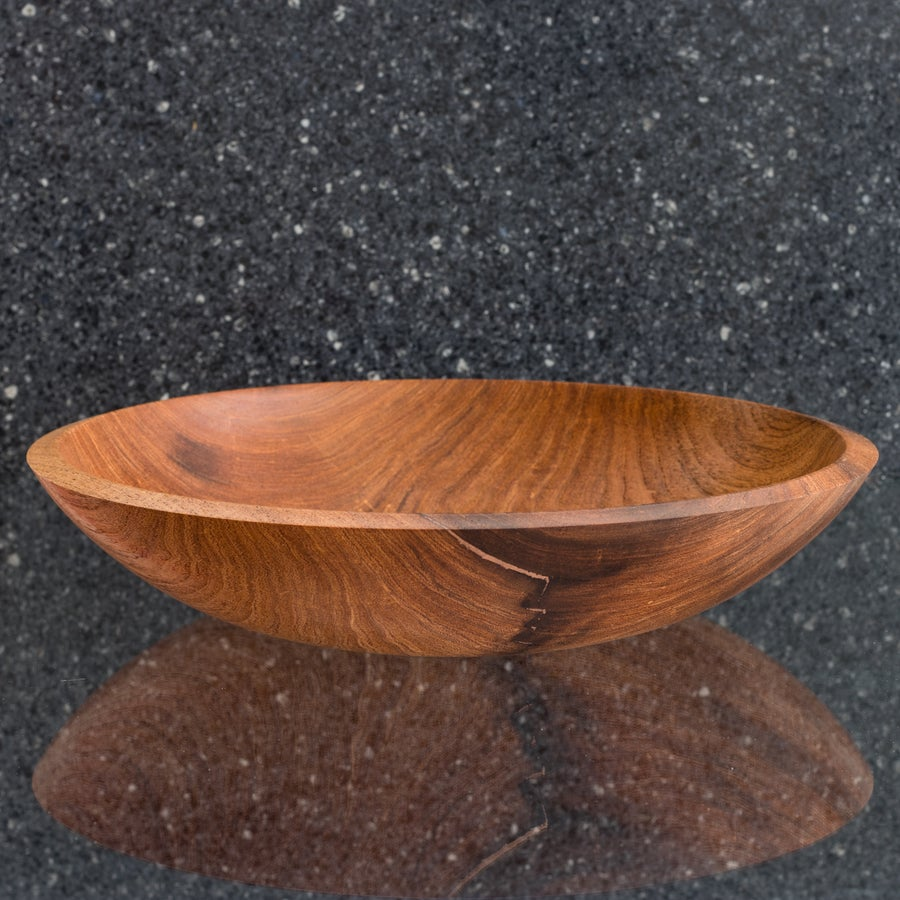 Image of Mesquite Bowl with Copper Inlay