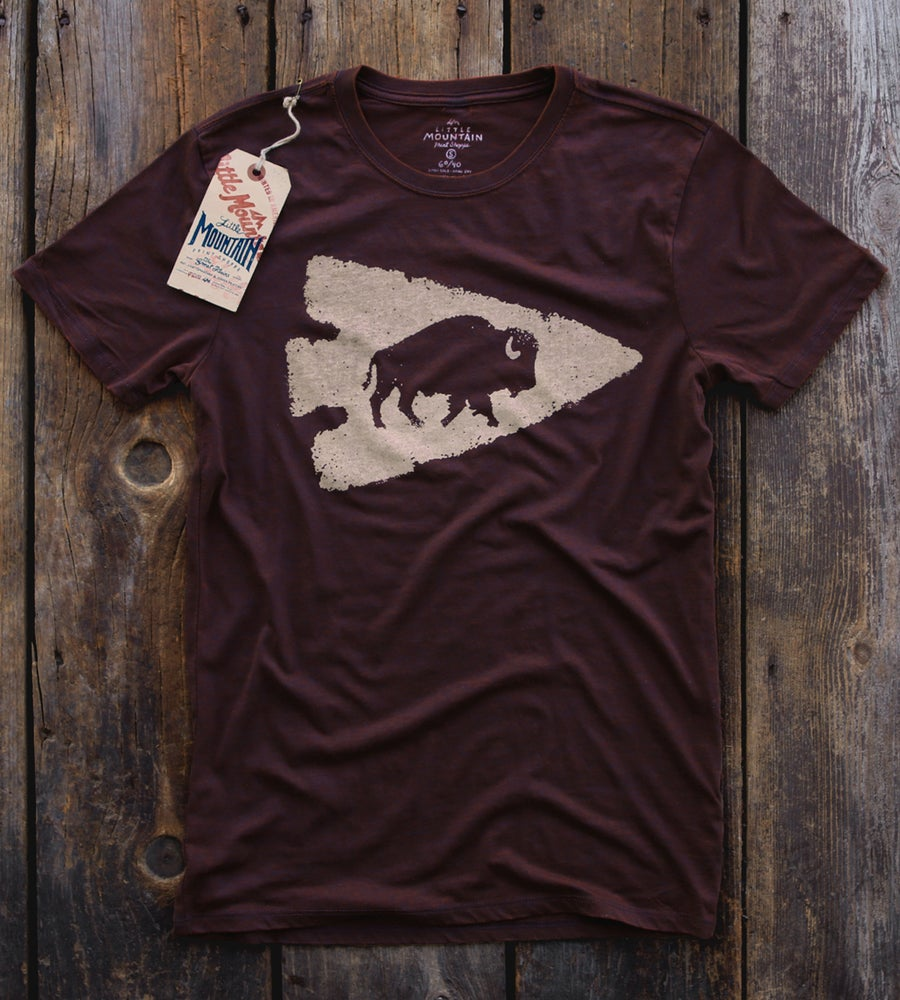 Image of Bison Arrowhead | Black Cherry