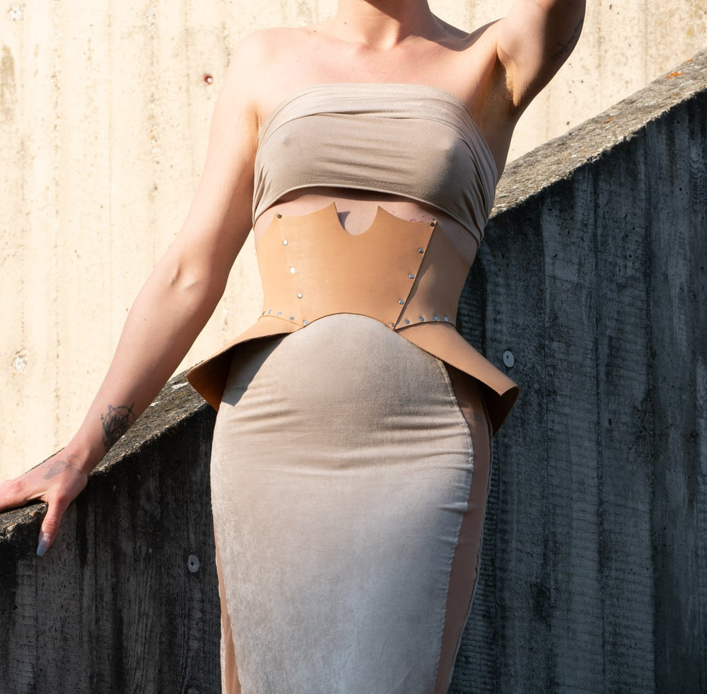 Image of Winged Leather Corset (natural colored)