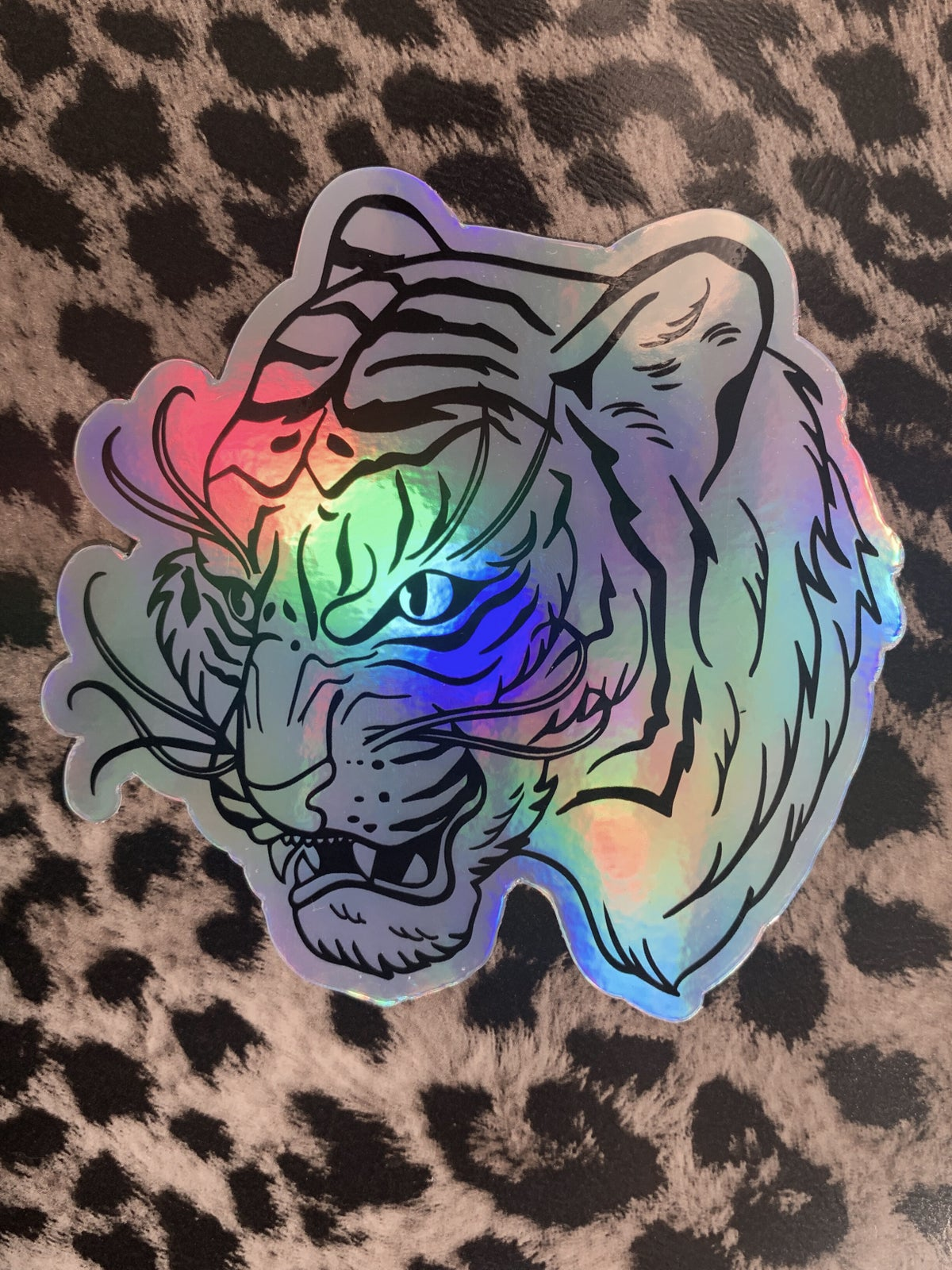 Holo Tiger Vinyl Sticker