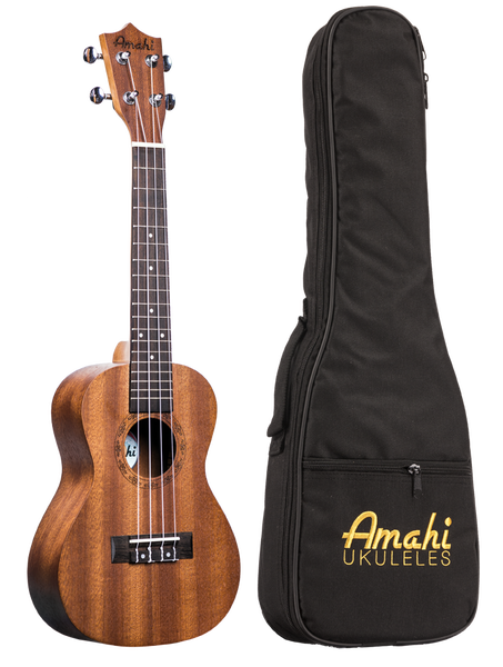 Image of Amahi Mahogany Soprano Size Ukulele, Model UK-210S w/Soft Case