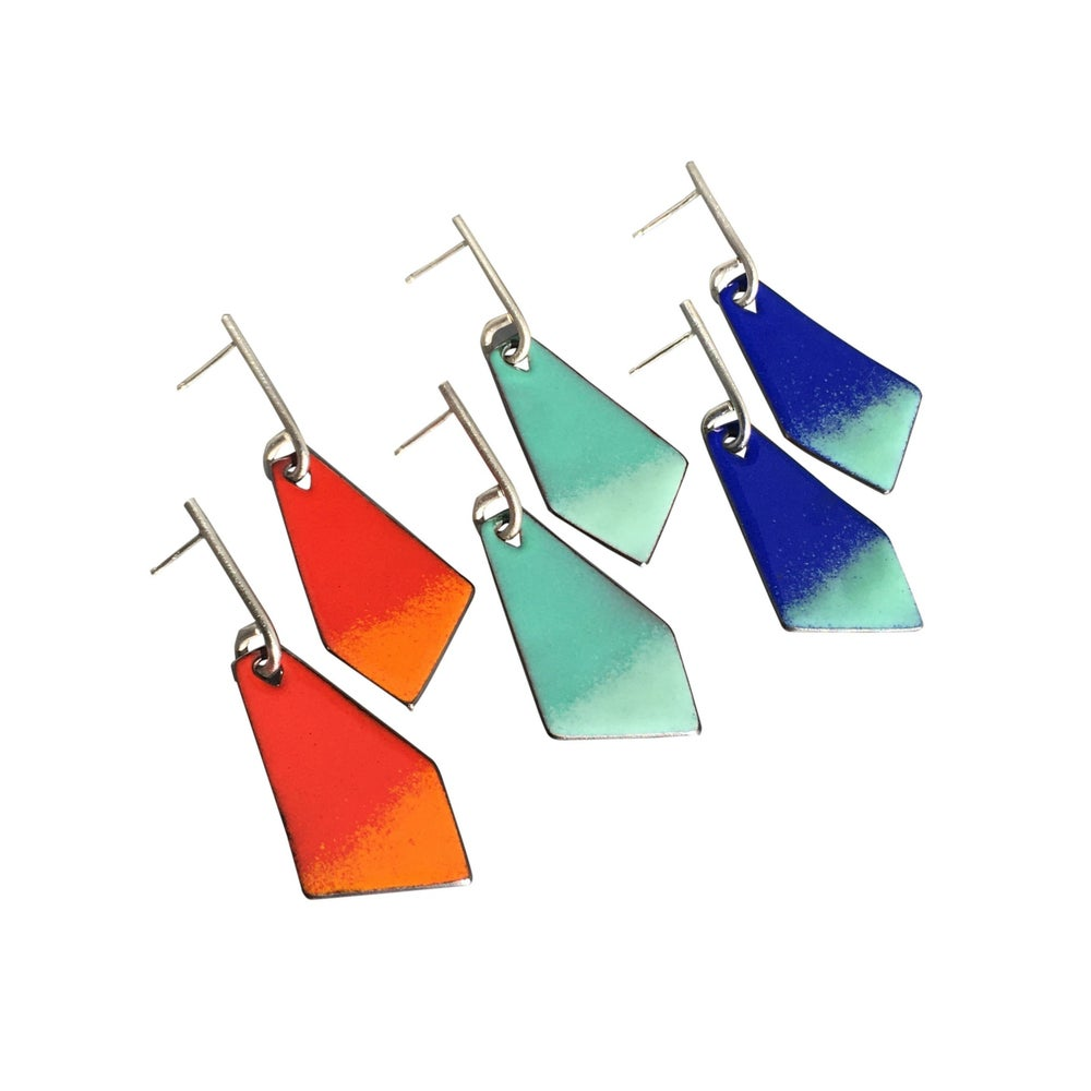 Image of enamel kite earrings