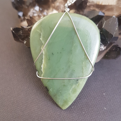 Image of Jade Wire-Wrapped Necklace