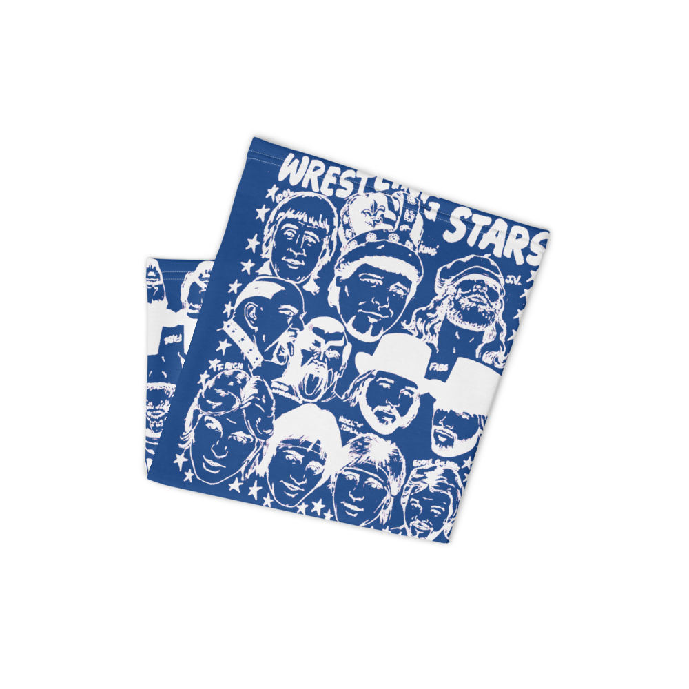 """Image of Memphis Wrestling Stars of '84 Babyface™ 19"""" x 19"""" Mask (Artwork by Jerry Lawler, Red or Blue)"""