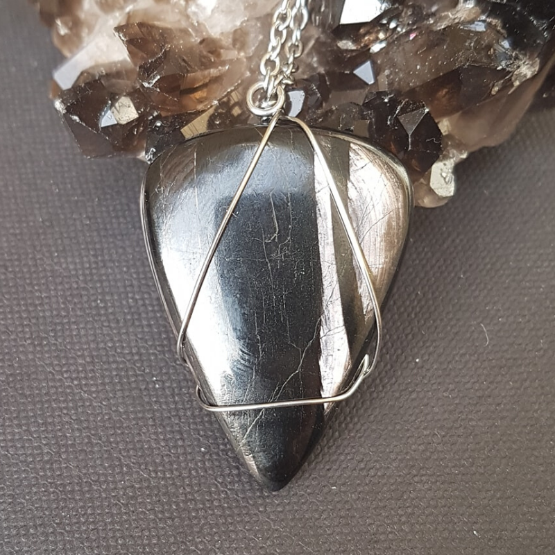 Image of Hypersthene Wire-Wrapped Necklace