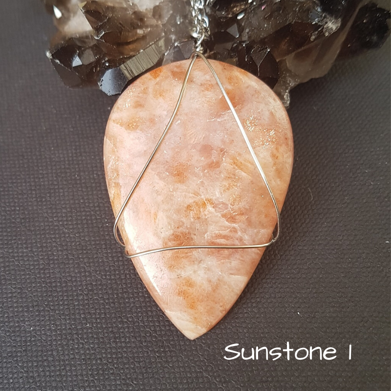 Image of Sunstone Wire-Wrapped Necklace