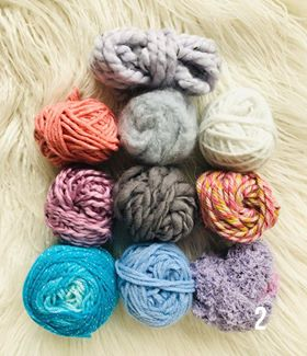 Image of PInks and Blues Fibre Packs