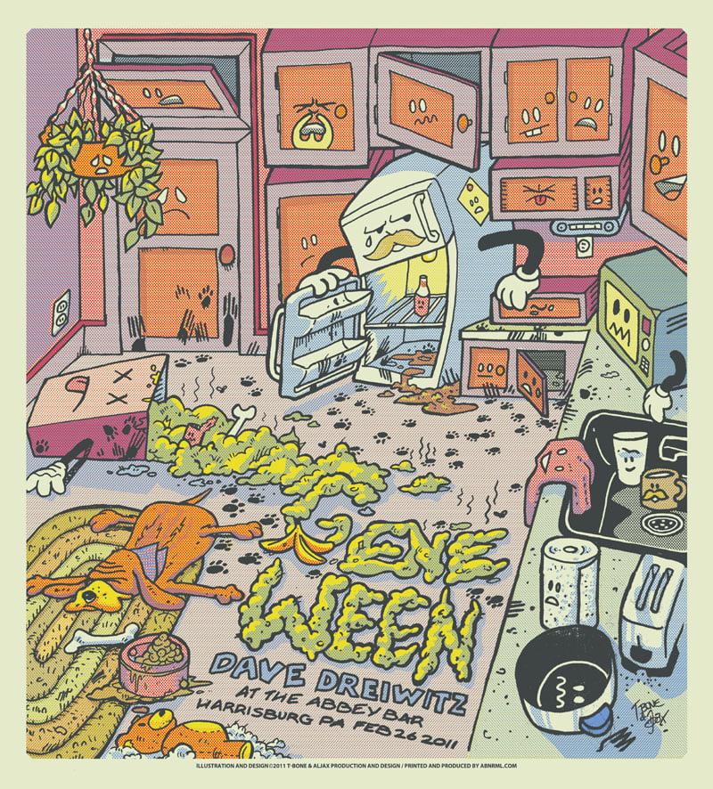 Image of Gene Ween w/ Dave Dreiwitz - Abbey Bar - Harrisburg, PA - 2.26.11