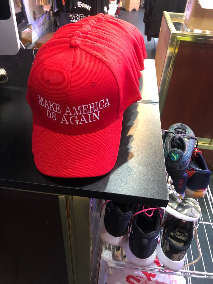 Image of Make America 08 Again Strap Back Hats