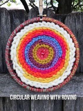 Image of Circular Weaving with Wool Roving Kit 2