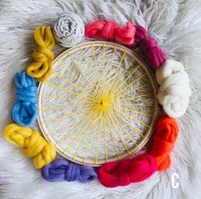 Circular Weaving with Wool Roving Kit 2