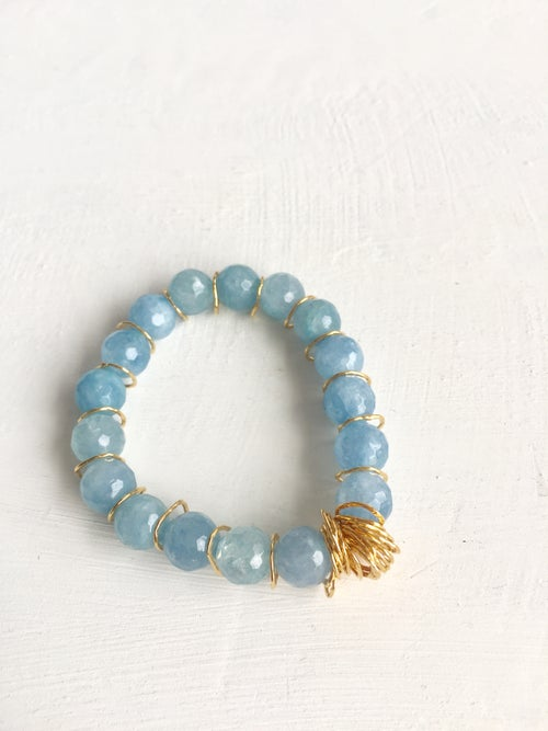 Image of Afiok beaded bracelet - blue Quartz
