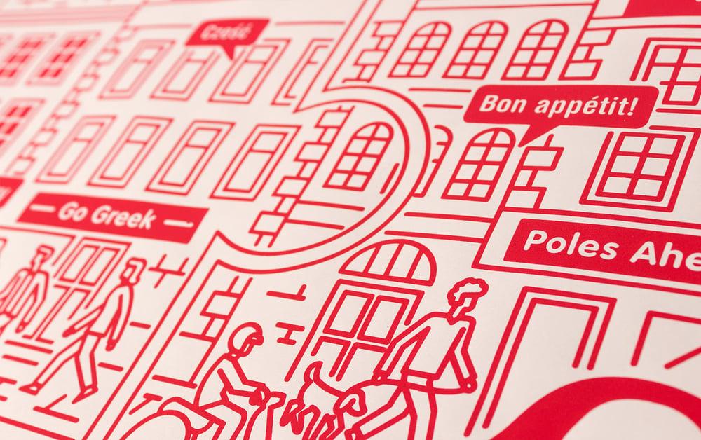 Smart City Red - Serigrafia di Jacopo Rosati