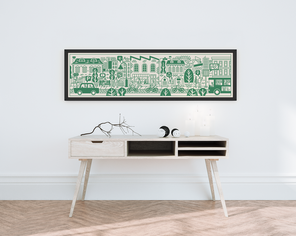 Smart City Green - Serigrafia di Jacopo Rosati