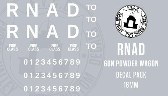Image of RNAD Gun Powder Wagon Decal Pack 16mm