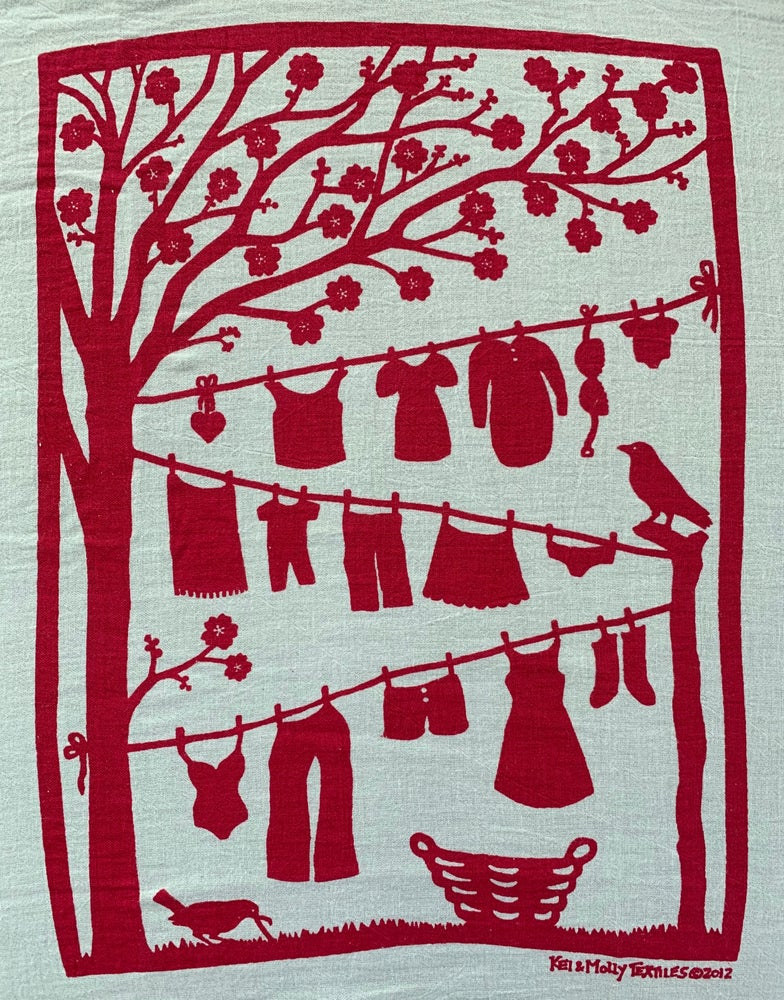 Image of Flour sack dish towel : Laundry line
