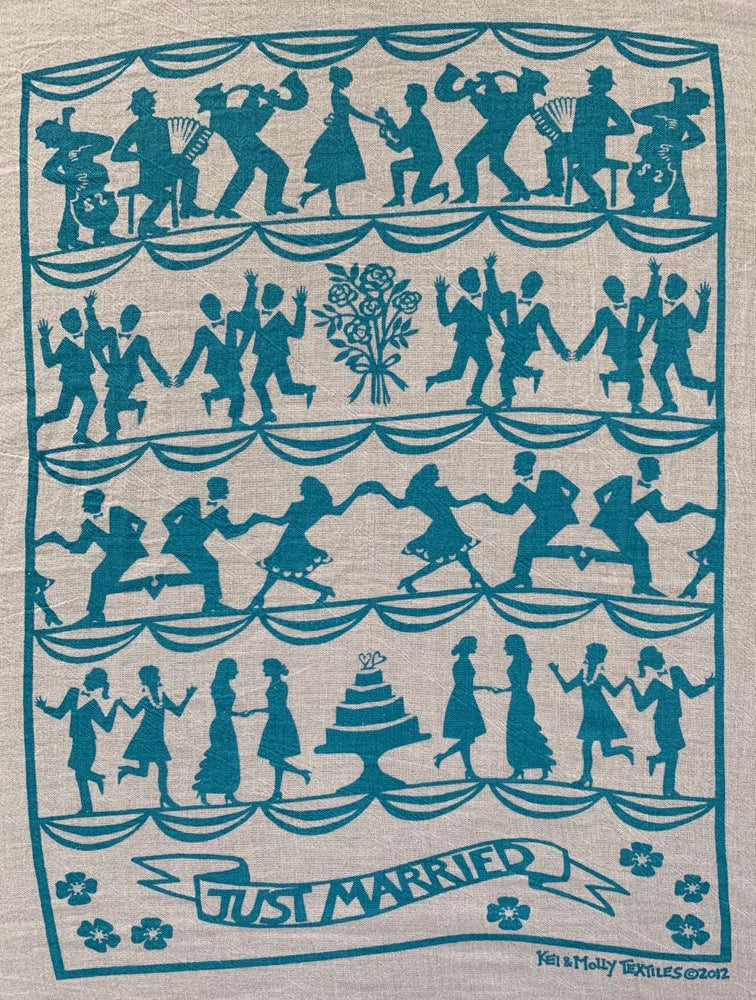 Image of Flour sack dish towel: wedding