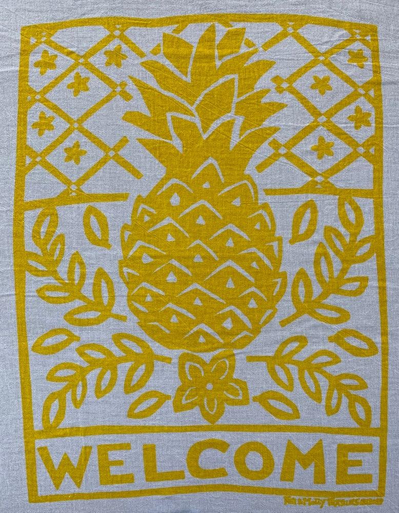 Image of Flour sack dish towel: pineapple