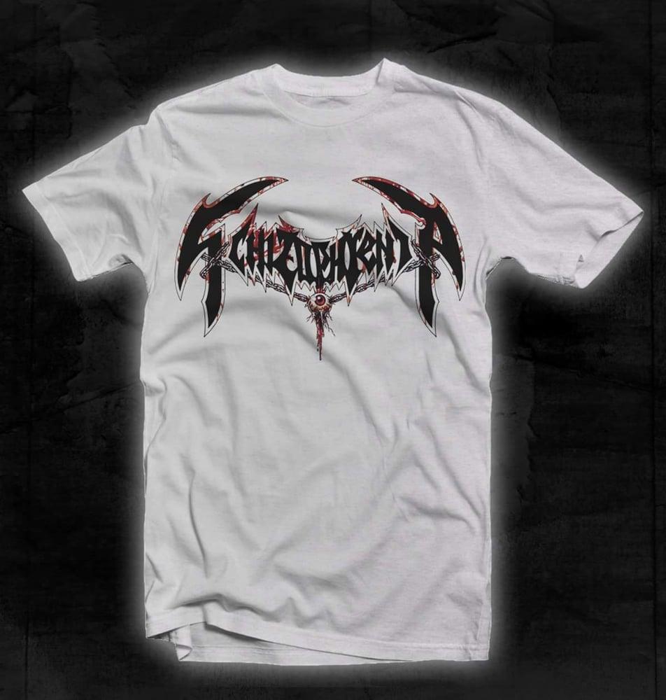 Image of Schizophrenia - Bloody Logo / White T-shirt