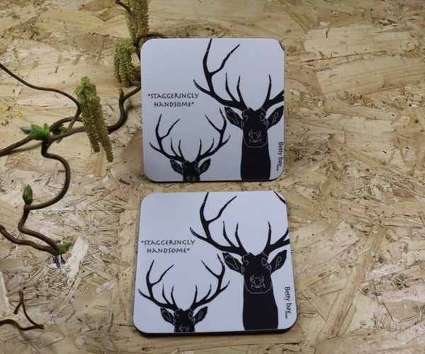 Image of Set of Four Staggeringly Handsome  Melamine Coaster