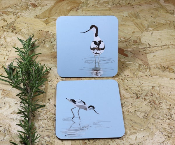 Image of Set of Four Avocet Melamine Coasters