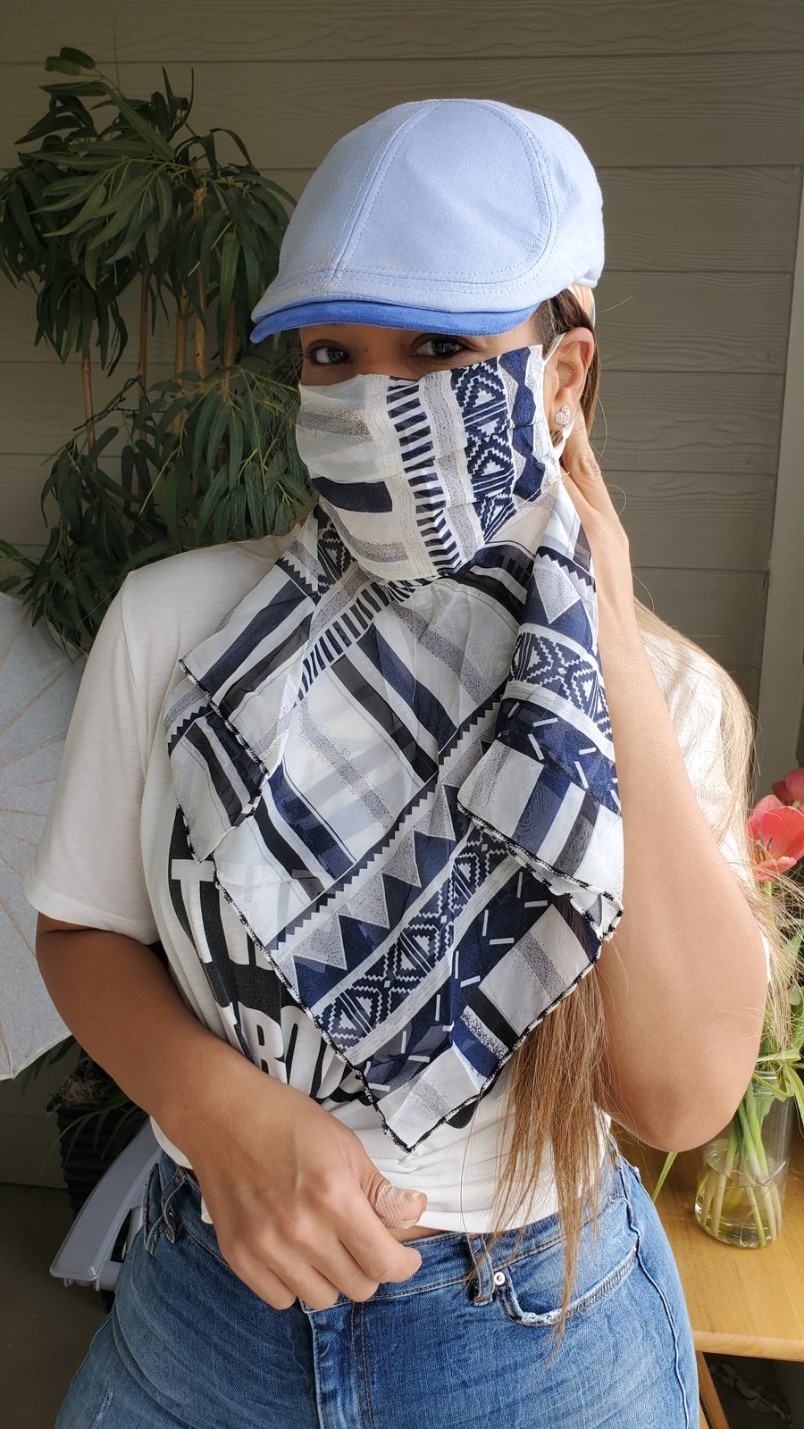 Image of Face mask scarf
