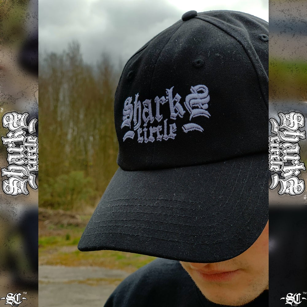 Sharks Circle Embroidered Cap