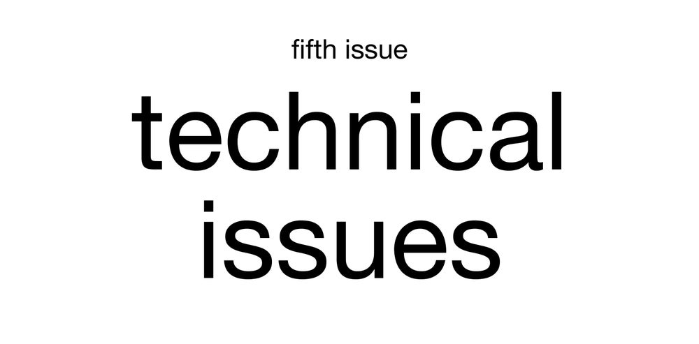 Image of technical issues