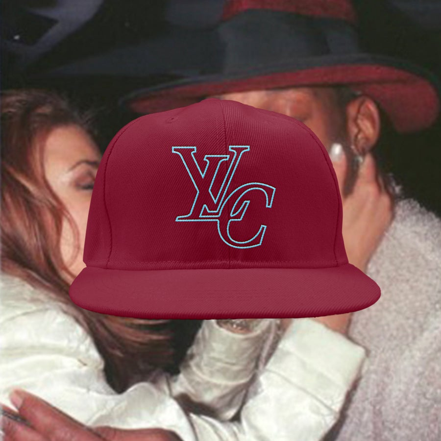 Image of LvC Premium Snapback (BURGUNDY/TUQUOISE)