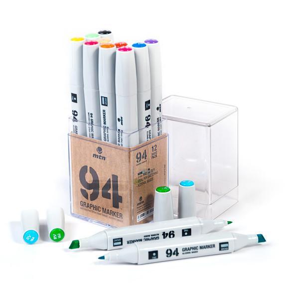 MTN 94 Graphic Marker 12 Packs