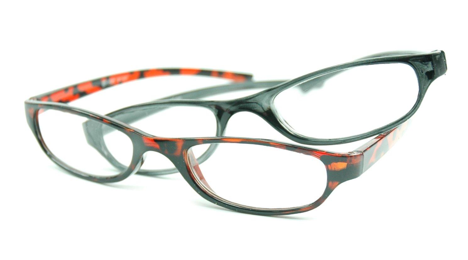 Image of Visa Reading Glasses (#111305) Brown & Grey, 2-pack