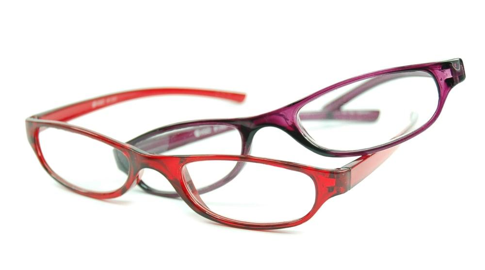 Image of Visa Reading Glasses (#111305) Red & Purple, 2-pack