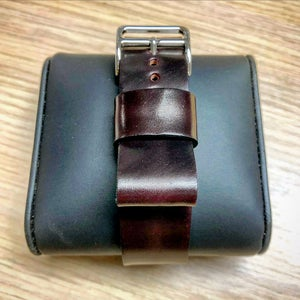 Image of Vintage #8 Horween Shell Cordovan single-pass strap (pull through)