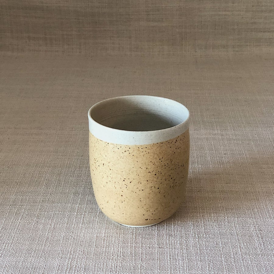 Image of EARTHY ORANGE CURVED TUMBLER