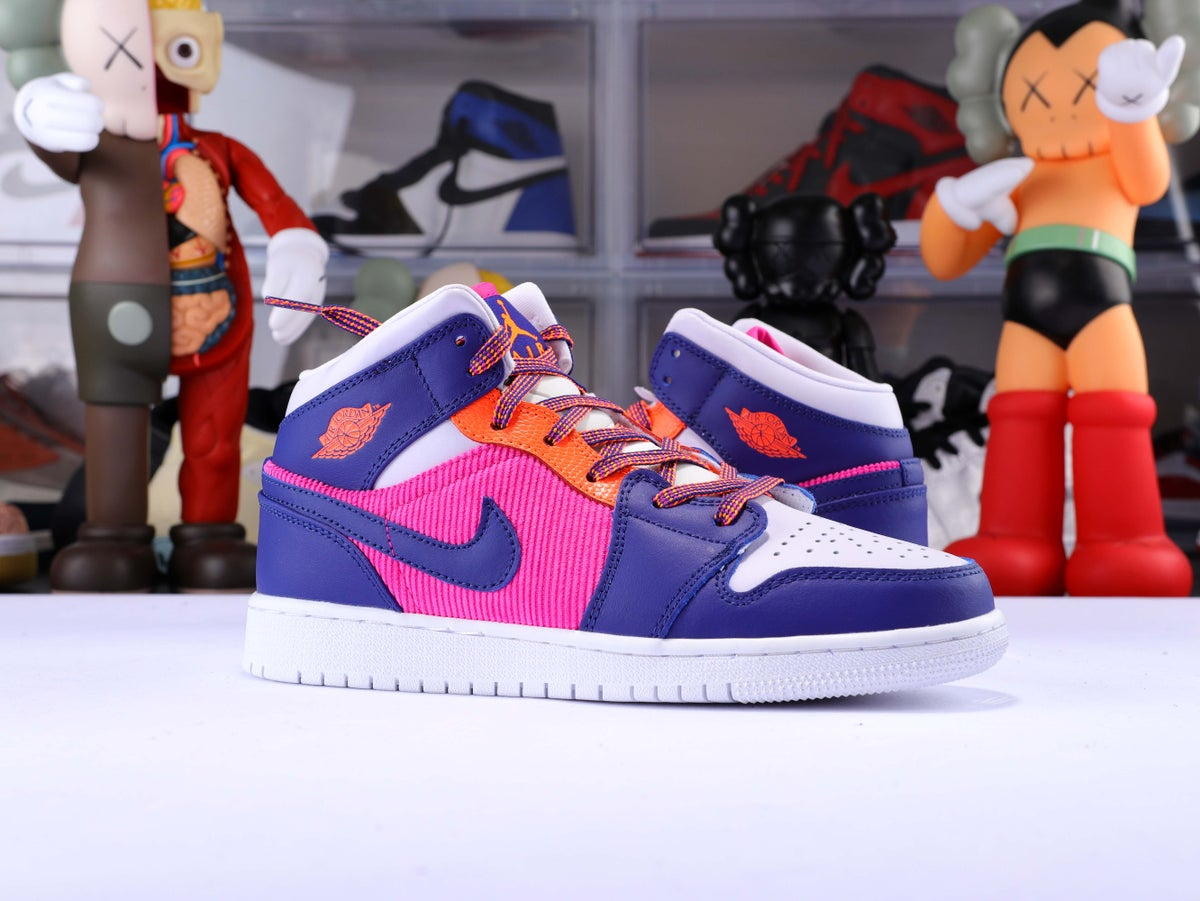 Image of Jordan 1 Mid Fire Pink/Regency Purple