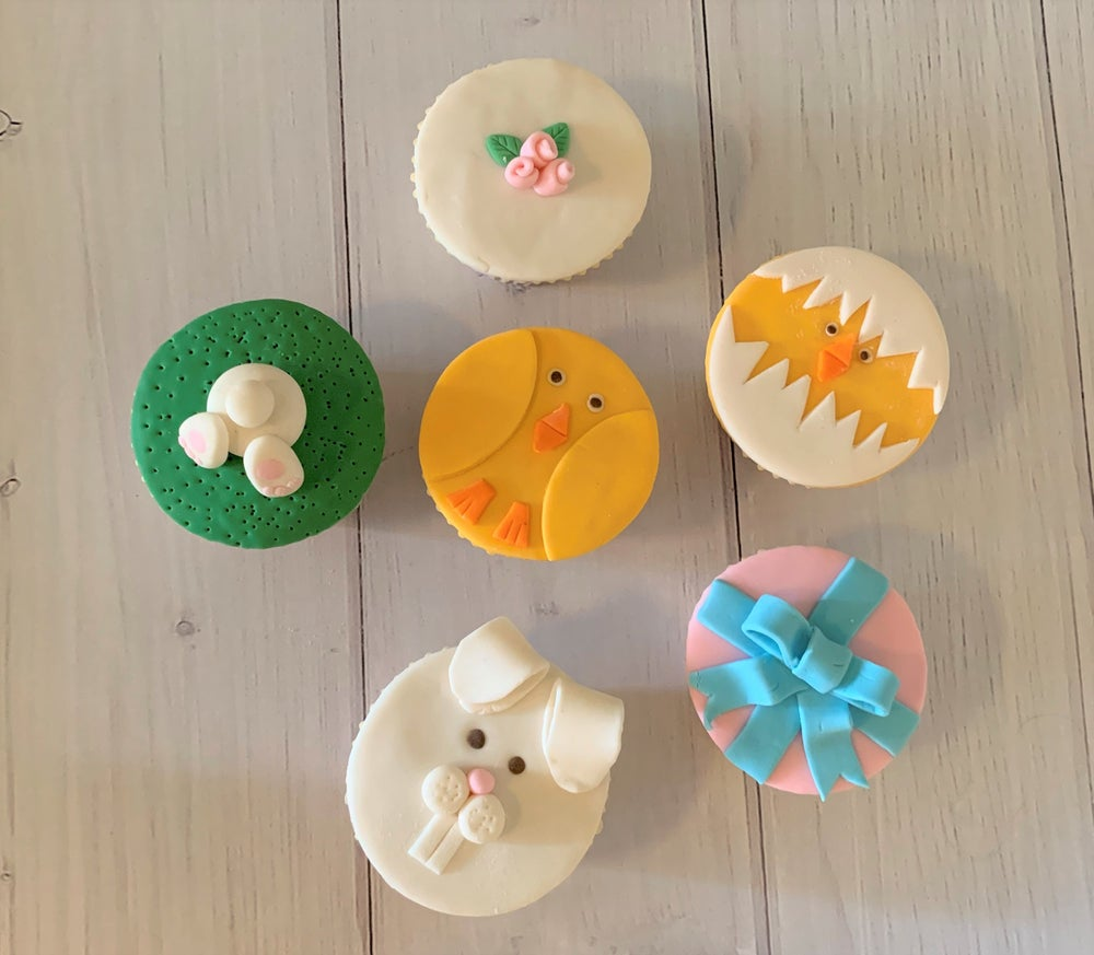 Image of Easter Fondant Cupcakes - pack of six